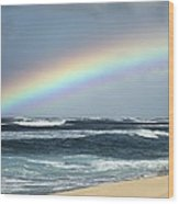 North Shore Oahu Rainbow Wood Print