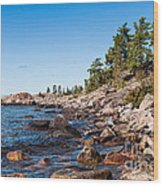 North Shore Of Lake Superior Wood Print