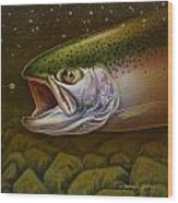 North Shore Steelhead Wood Print by Jon Q Wright