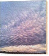 North Texas Sky Wood Print