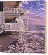 North Topsail Beach Tides That Tell Wood Print