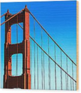 North Tower Golden Gate Wood Print