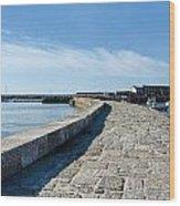 North Wall - Lyme Regis Harbour 2 Wood Print