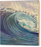 North Whore Wave Wood Print