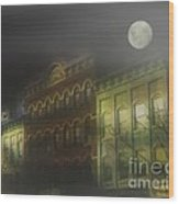 Northampton By Moonlight Wood Print