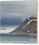Northern Island In Svalbard Wood Print