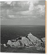 Northern Lighthouse Wood Print