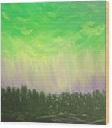 Northern Lights Of Aberdeen Wood Print