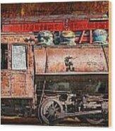 Northern Pacific Vintage Locomotive Train Engine Wood Print
