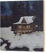 Northern Paradise  Wood Print