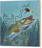 Northern Pike Spinner Bait Wood Print