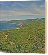 Northern Road Through Cape Breton Highlands Np-ns Wood Print
