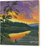 After Glow - Oil / Canvas Wood Print