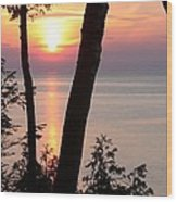 Northern Sunset Wood Print
