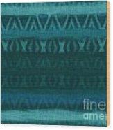 Northern Teal Weave Wood Print by CR Leyland