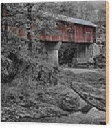 Northfield Falls Bridge Wood Print