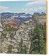 Northgate Peaks Trail From Kolob Terrace Road In Zion National Park-utah Wood Print