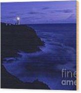 Northhead Ilwaco Lighthouse Washington Coastline Wood Print