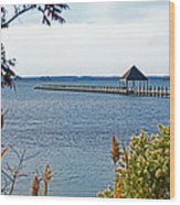 Northside Park Fishing Pier Wood Print