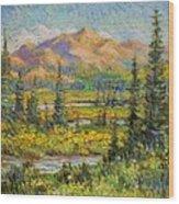 Northwest In The Rockies Wood Print