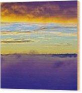 Northwest Sunrise Cloudscape Wood Print
