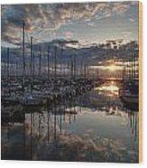 Northwest Sunset Marina Wood Print