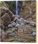Norvan Falls Wood Print by James Wheeler