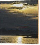 Norway Dramatic Evening Light Wood Print