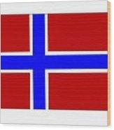 Norway Flag Wood Print