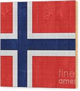 Norway Flag Wood Print