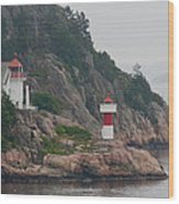 Norway Lighthouse 2 Wood Print