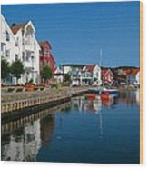 Norway Waterfront Wood Print