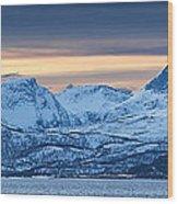 Norwegian Coast Wood Print by Wade Aiken