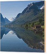 Norwegian Cottages Wood Print