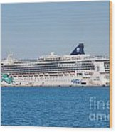 Norwegian Jade Cruise Ship Corfu Wood Print