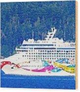 Norwegian Jewel Cruise Ship Wood Print
