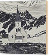 Norwegian Lutheran Church Grytviken Wood Print