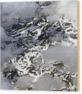 Norwegian Mountains From On High Wood Print