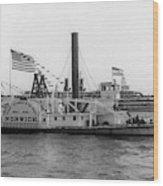Norwich Steamboat, C1909 Wood Print