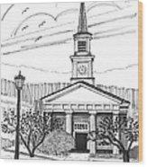 Norwich University White Chapel Wood Print