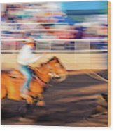 Norwood Colorado - Cowboys Ride Wood Print
