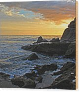 Nosara Playa Pelada Costa Rica Rocky Sets Wood Print