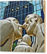 Nose To Nose In Montreal Wood Print