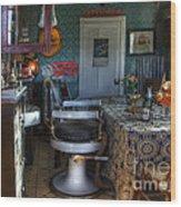 Nostalgia Barber Shop Wood Print