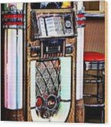 Nostalgic Juke Box Wood Print