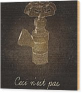 Not A Pipe Wood Print