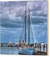 Not For Sail Wood Print