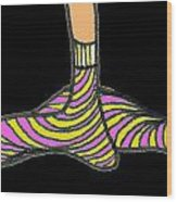 ...not My Feet... Wood Print