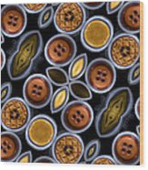 Not Your Mothers Button Box Wood Print by Jean Noren