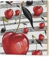 Notes Of Fruits Wood Print